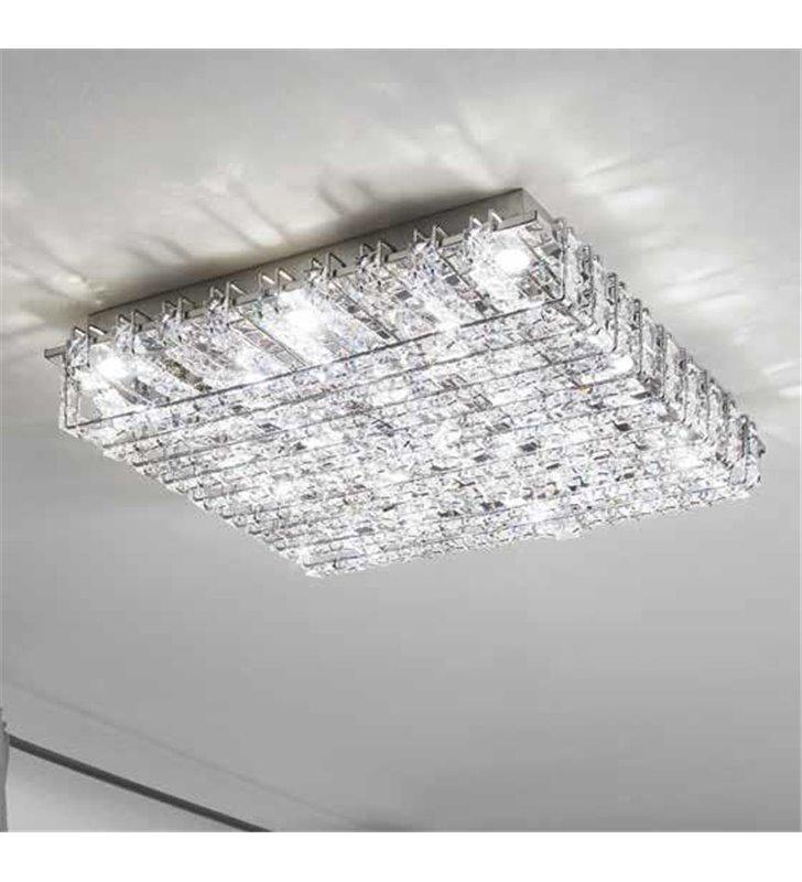 Lonzaso kwadratowy plafon kryształowy LED 490