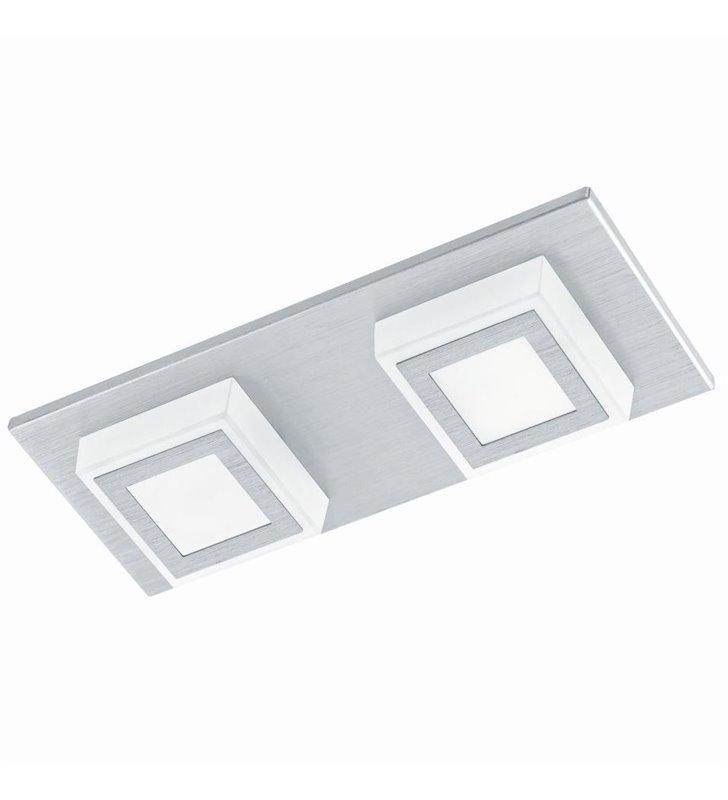 Aluminiowy prostokątny plafon Masiano LED nowoczesny