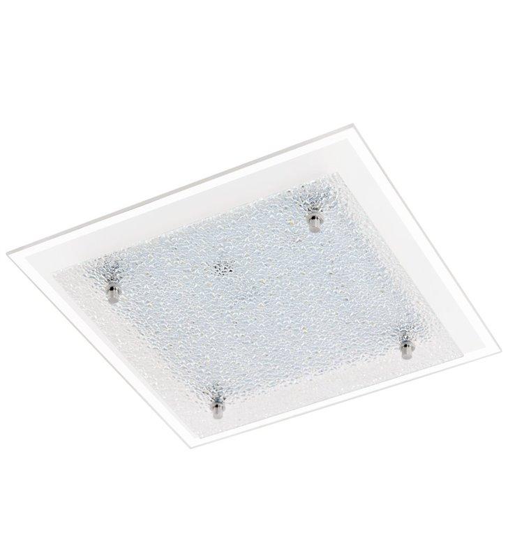 Plafon Priola 280 kwadratowy klosz szklany ze strukturą