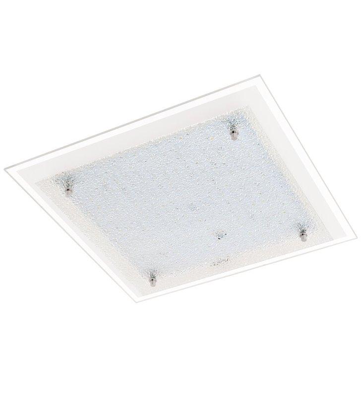Plafon Priola 380 kwadratowy klosz szklany ze strukturą