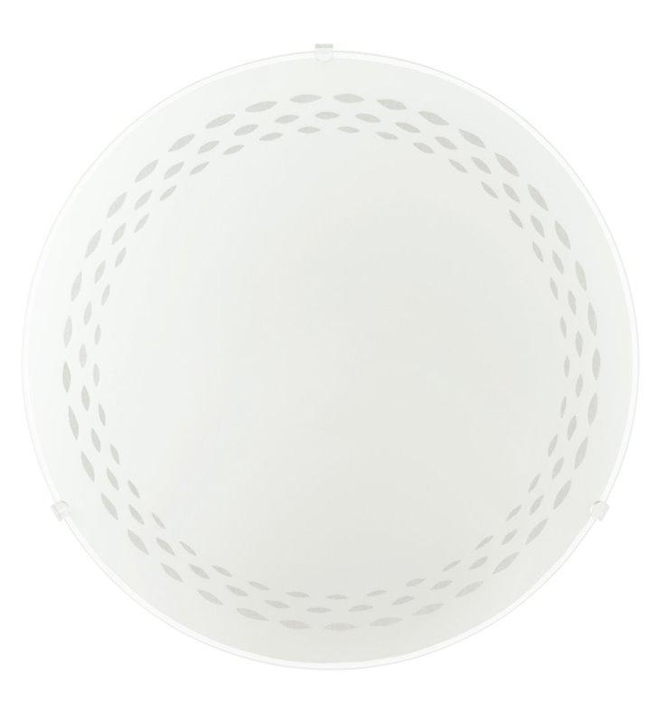 Plafon Twister 250 LED biały okrągły ze zdobionym brzegiem klosza