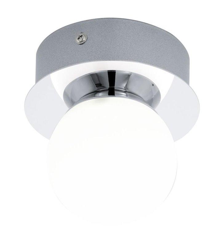 Kinkiet łazienkowy lampa sufitowa do łazienki Mosiano chrom klosz biała kula IP44 LED