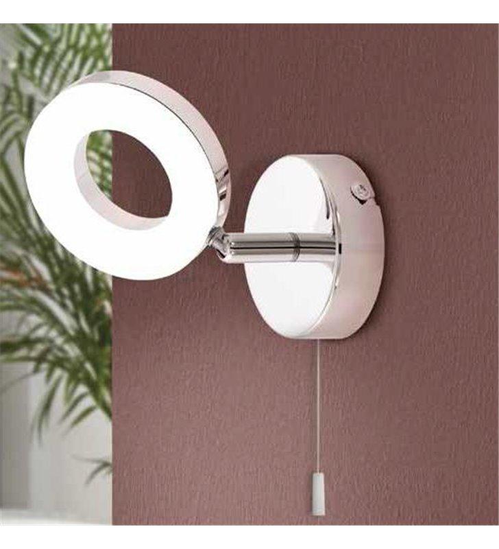 Kinkiet do łazienki z włącznikiem Gonaro nowoczesny LED kolor chrom IP44