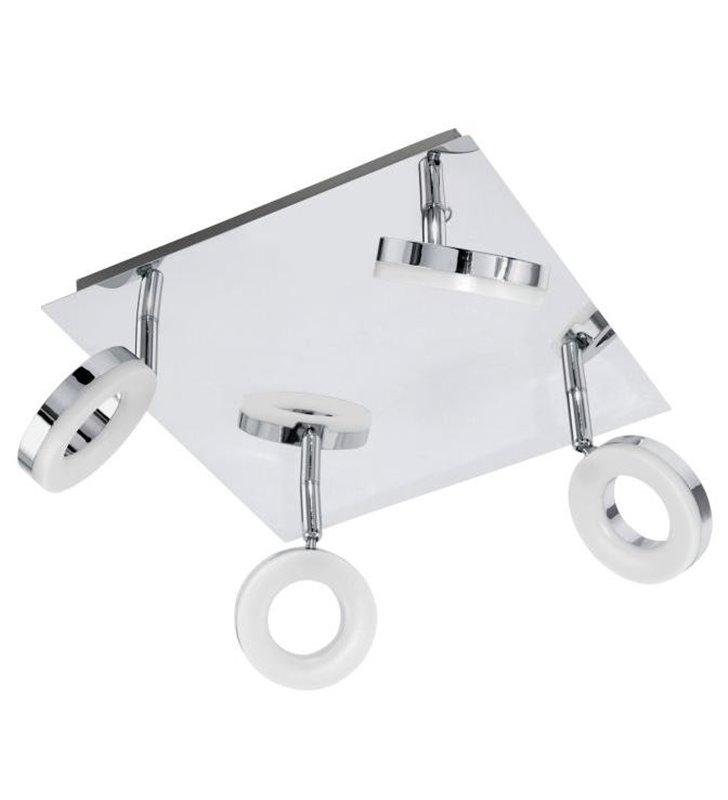Lampa sufitowa do łazienki Gonaro nowoczesna 4 punktowa LED kolor chrom IP44