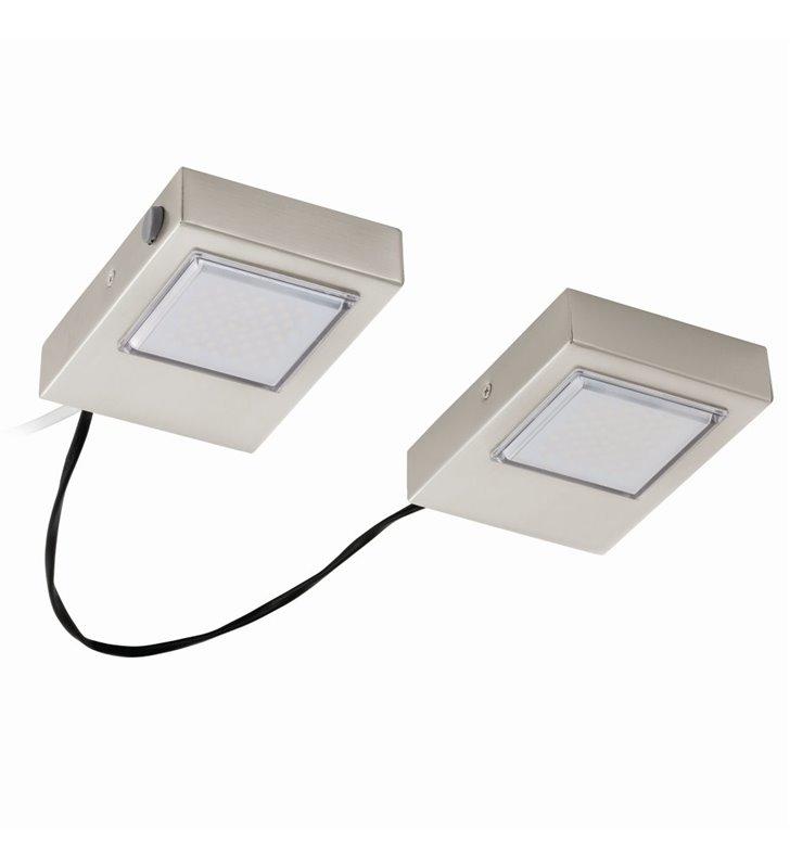 Oprawa podszafkowa do kuchni z włącznikiem Lavaio nikiel satynowany LED