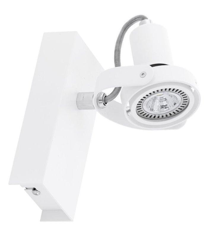 Kinkiet Novorio1 nowoczesny biały żarówka LED