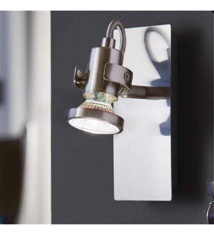 Kinkiet Tukon3 nikiel satynowany z włącznikiem żarówka LED  - DOSTĘPNY OD RĘKI