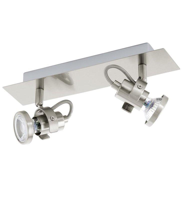 Lampa sufitowa Tukon3 2 punktowy spot nikiel satynowany żarówka LED