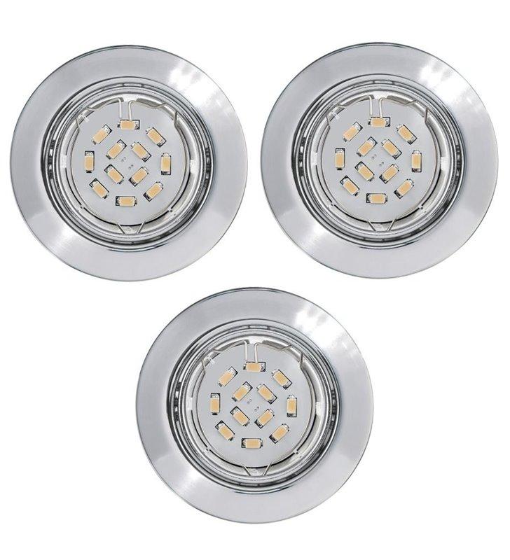 Oprawa punktowa Peneto żarówka LED chrom - 3 sztuki w komplecie