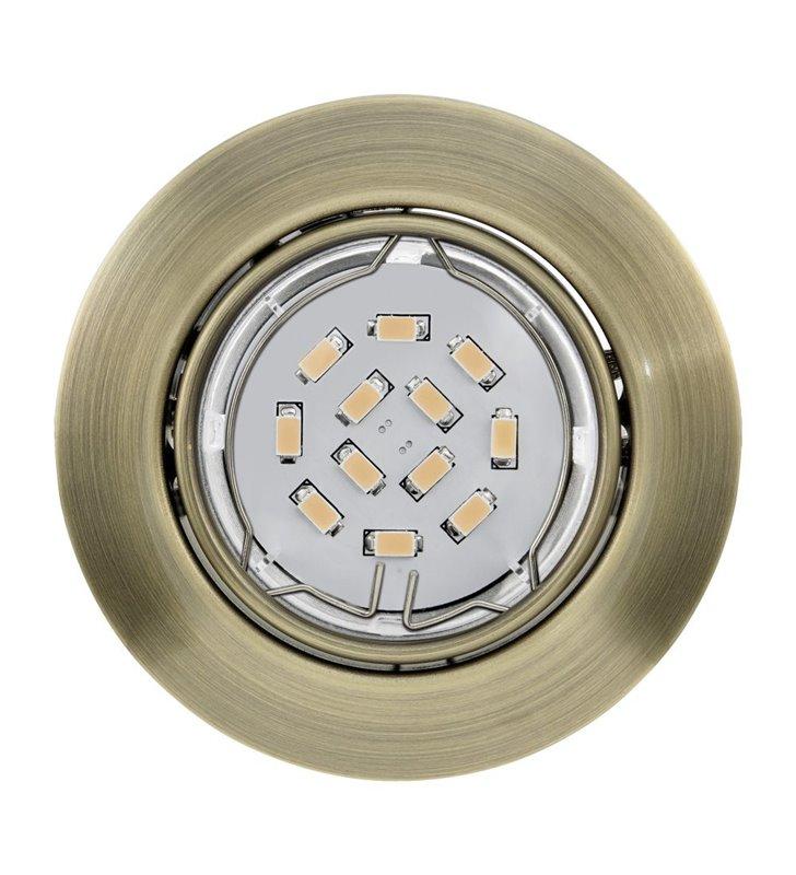Oprawa punktowa Peneto żarówka LED patyna