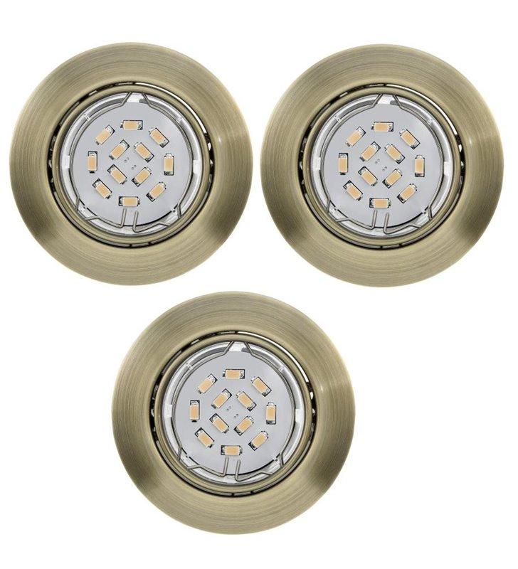 Oprawa punktowa Peneto żarówka LED patyna - 3 sztuki w komplecie - DOSTĘPNA OD RĘKI