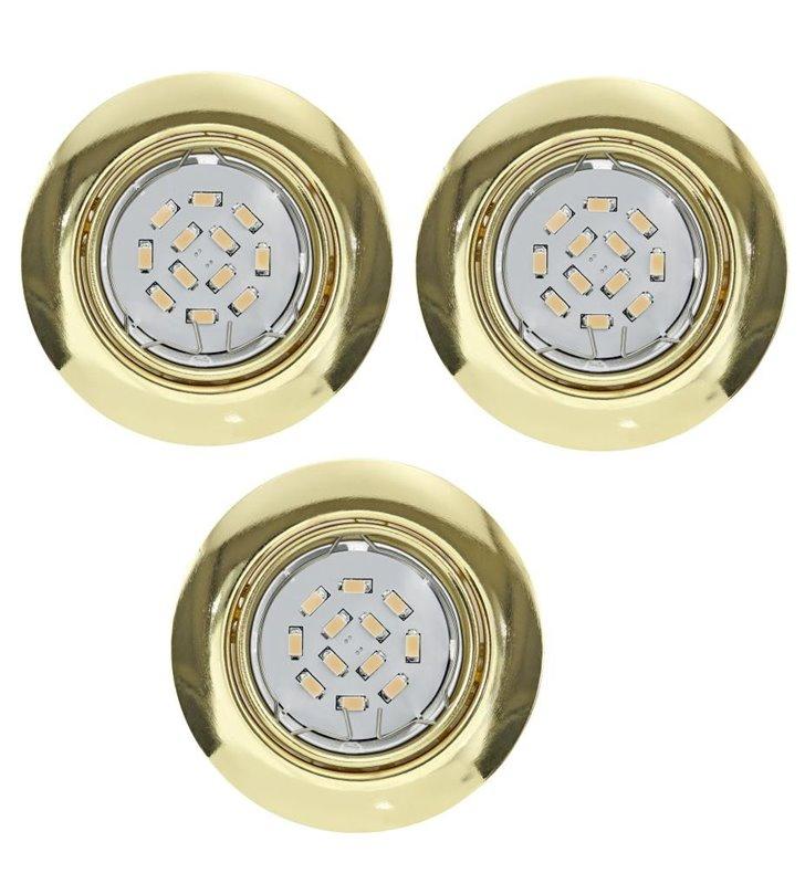 Oprawa punktowa Peneto żarówka LED mosiądz - 3 sztuki w komplecie - DOSTĘPNA OD RĘKI