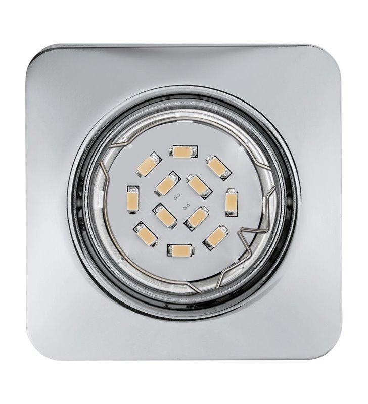 Kwadratowa oprawa punktowa Peneto żarówka LED chromowana