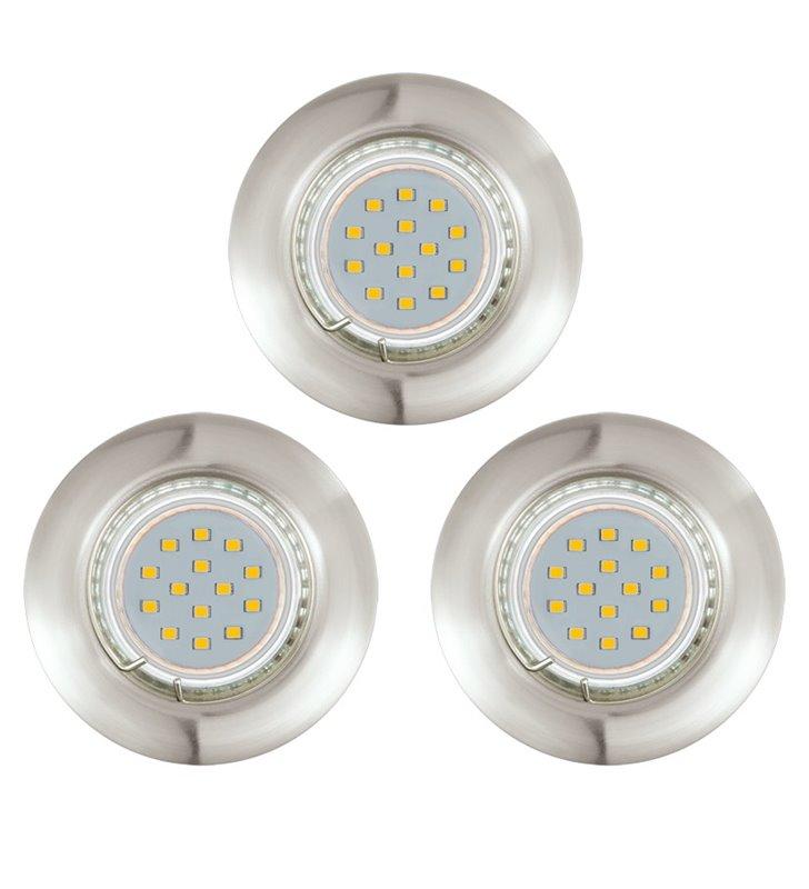 Oprawa punktowa Peneto żarówka LED nikiel satynowany - 3 sztuki w komplecie