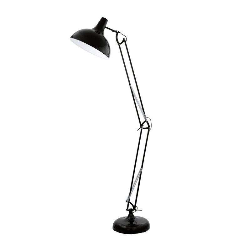 Lampa podłogowa Borgillio nowoczesna metalowa łamana czarna