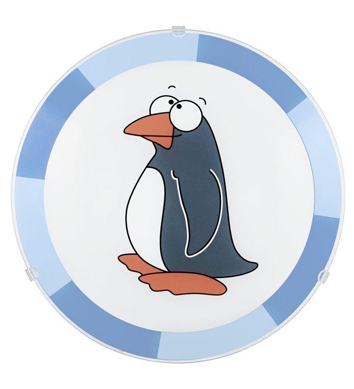 Lampa sufitowa plafon Biubiu do pokoju dziecka z pingwinem