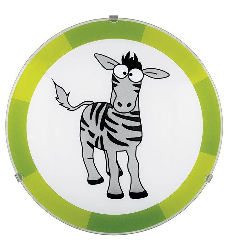 Lampa sufitowa plafon Biubiu do pokoju dziecka z zebrą