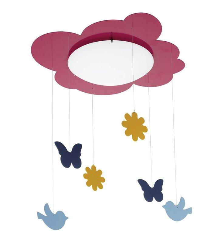 Lampa sufitowa Junior3 do pokoju dziewczynki z motylkami ptaszkami
