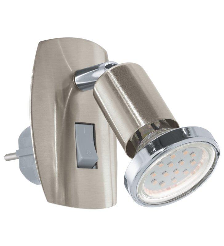 Lampa kinkiet z wtyczką wpinana do gniazdka nikiel Mini(4) - DOSTĘPNA OD RĘKI
