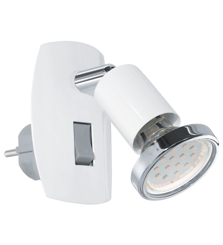Lampa kinkiet z wtyczką wpinana do gniazdka biała Mini(4) - OD RĘKI