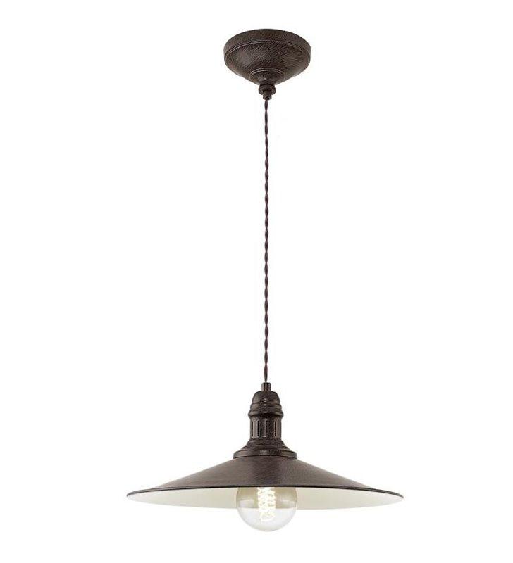 Lampa wisząca Stockbury pojedyncza metalowa brązowa w stylu vintage retro loftowym