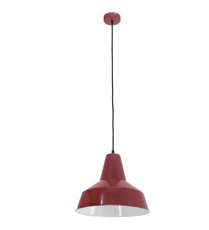 Lampa wisząca Somerton metalowa bordowa