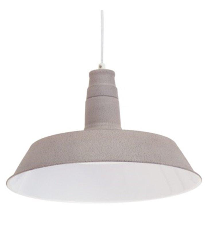 Lampa wisząca Somerton1 metalowa pojedyncza w stylu vintage loftowym kolor taupe