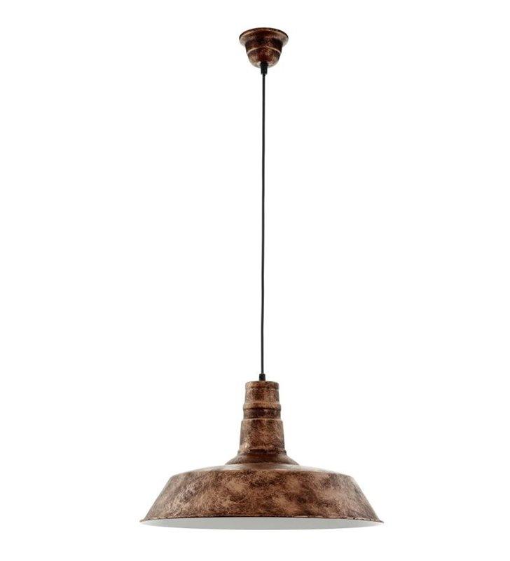 Lampa wisząca Somerton1 metalowa pojedyncza w stylu vintage loftowym kolor miedziany