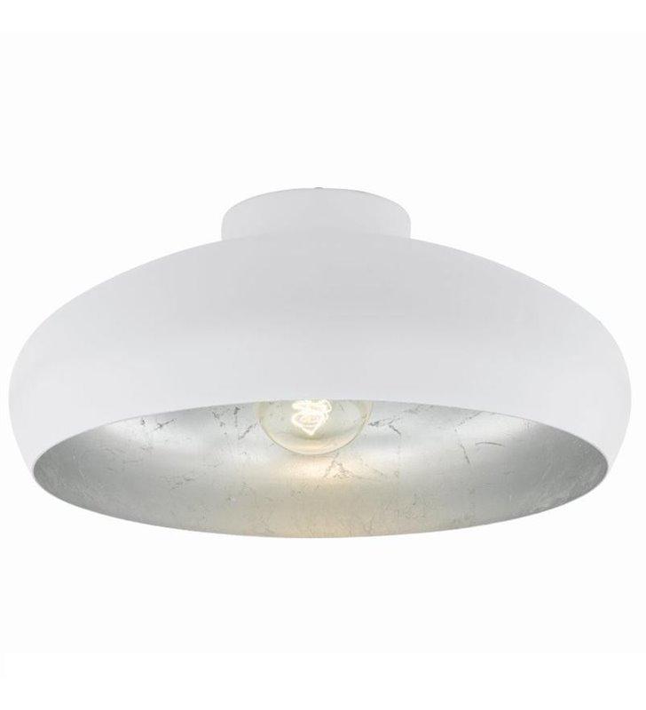 Plafon lampa sufitowa Mogano 400 biały ze srebrnym środkiem