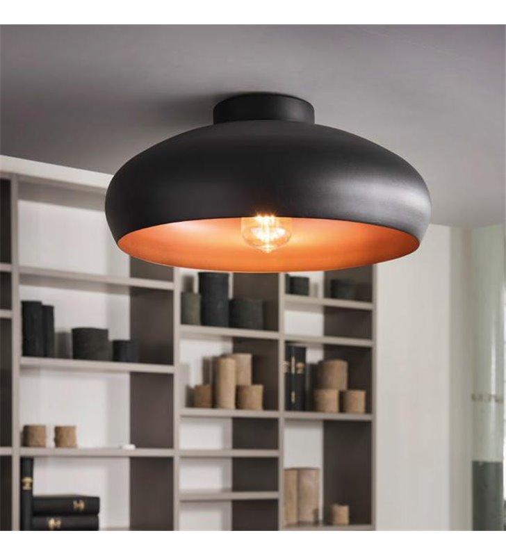 Plafon lampa sufitowa Mogano 400 czarny z miedzianym środkiem
