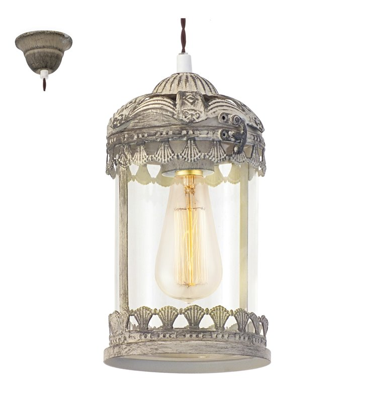 Lampa wisząca Langham pojedyncza w stylu vintage