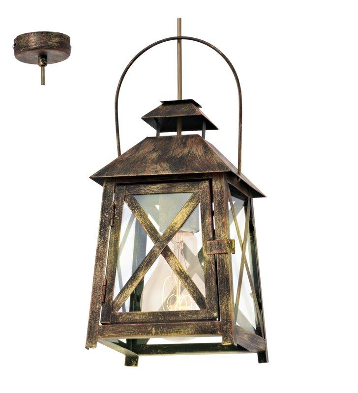 Lampa wisząca Redford w stylu vintage wisząca latarenka