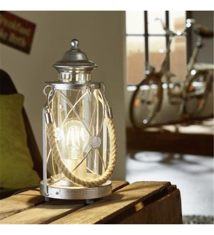 Lampa stołowa Bradford latarenka w stylu vintage morskim