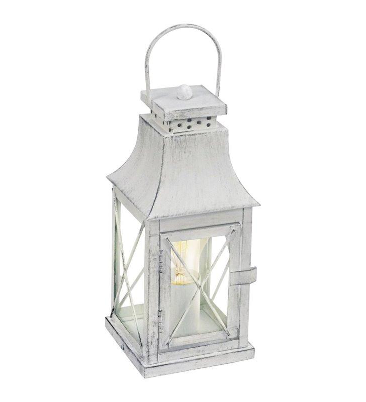 Lampa stołowa szara latarenka Lisburn w stylu vintage