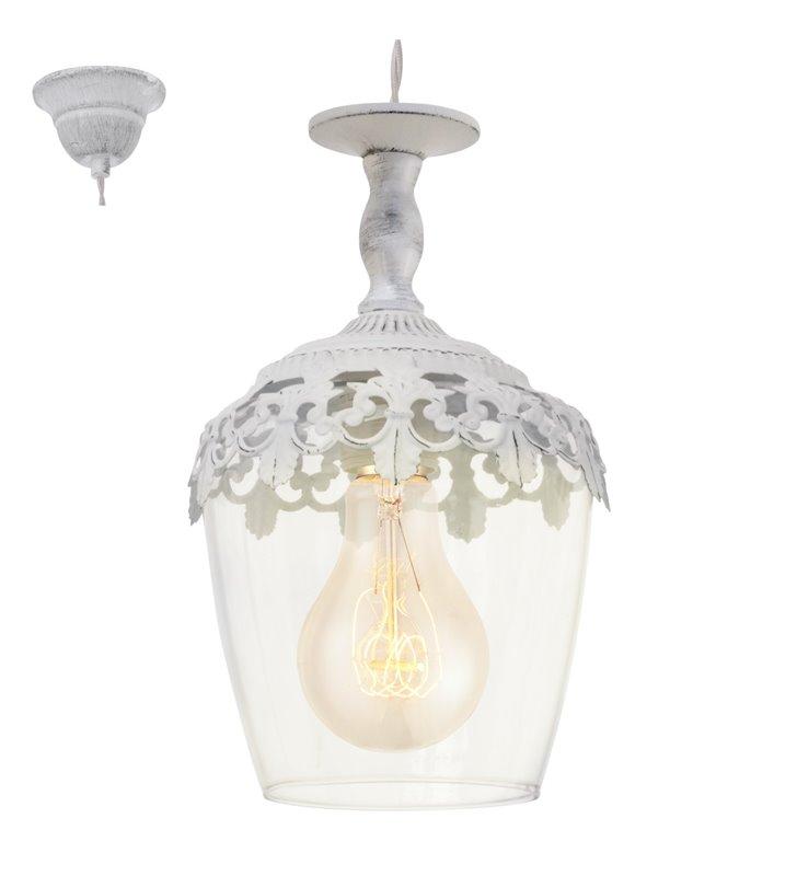 Lampa wisząca Sudbury ozdobna dekoracyjna w kształcie kielicha styl vintage