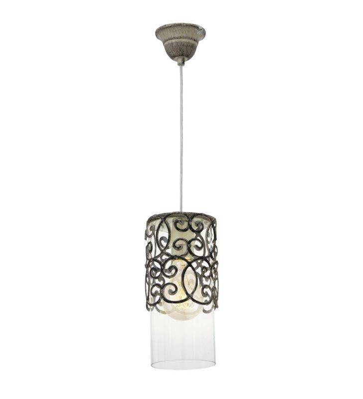 Lampa wisząca Cardigan ozdobna dekoracyjna w kształcie walca styl vintage