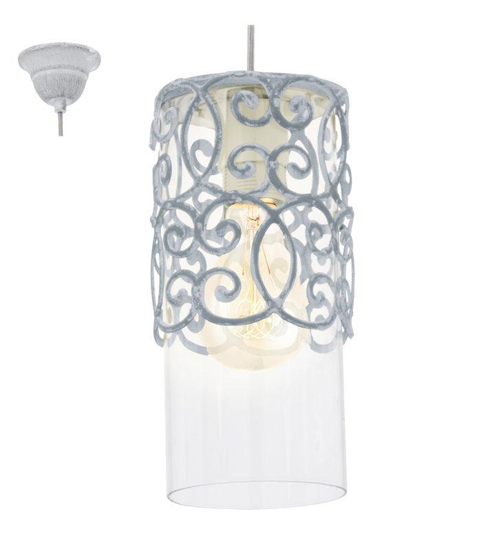 Lampa wisząca Cardigan ozdobna dekoracyjna w kształcie walca styl vintage - OD RĘKI