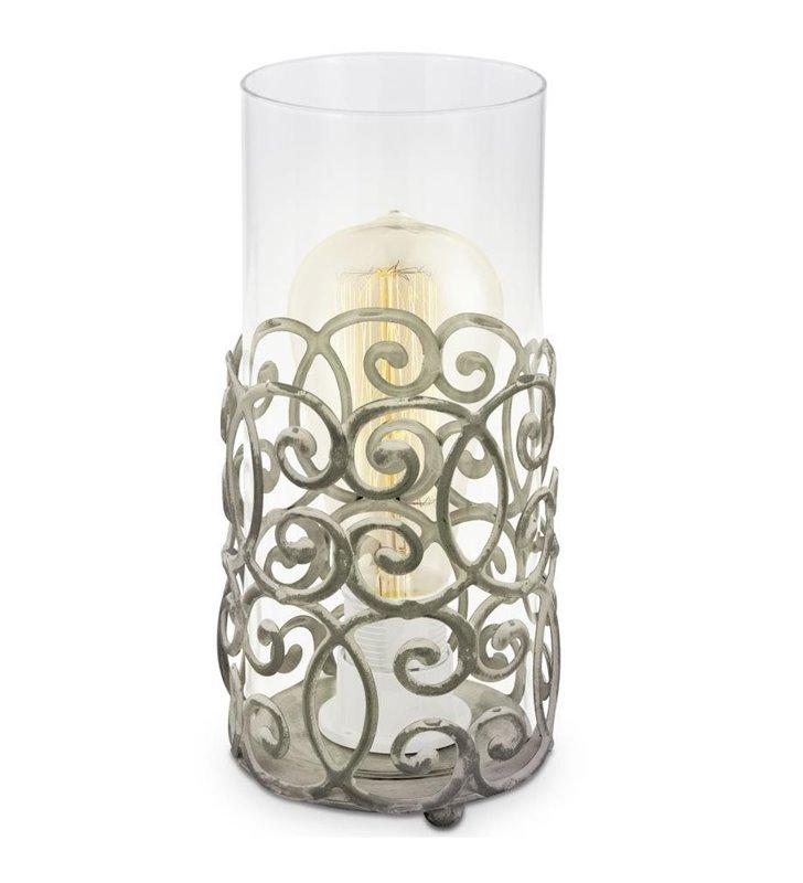 Lampa stołowa Cardigan ozdobna dekoracyjna w stylu vintage walec