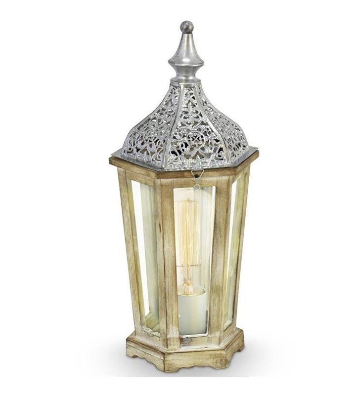 Lampa stołowa Kinghorn w stylu vintage latarenka