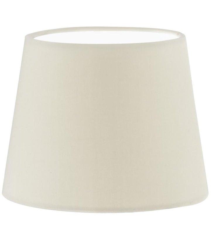 Lampa Vintage(3) - beżowy abażur tekstylny okrągły 245mm - OD RĘKI