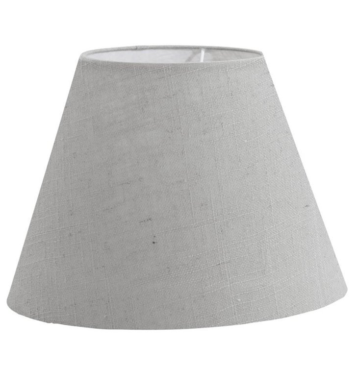 Lampa Vintage(3) - abażur szary len - DOSTĘPNY OD RĘKI