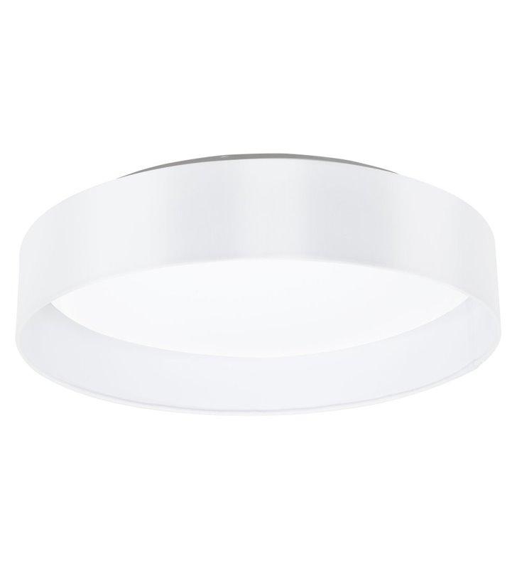 Plafon Maserlo 405 abażur materiałowy biały błyszczący okrągły LED