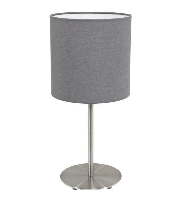 Pasteri lampa stołowa abażur szary