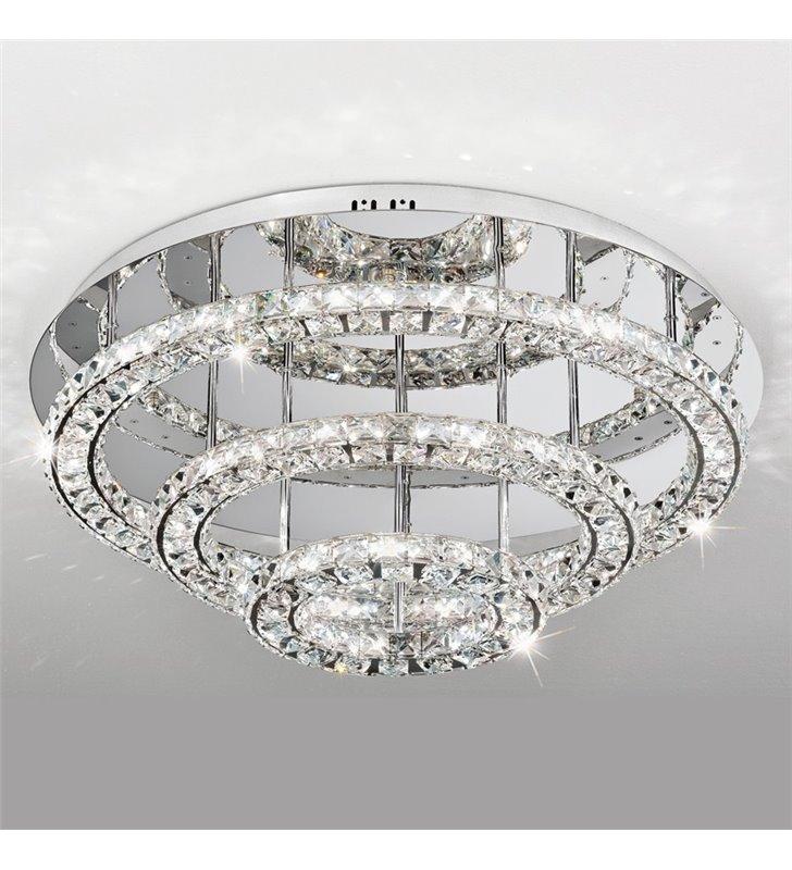 Plafon kryształowa lampa sufitowa Toneria 750 duża kryształowe obręcze