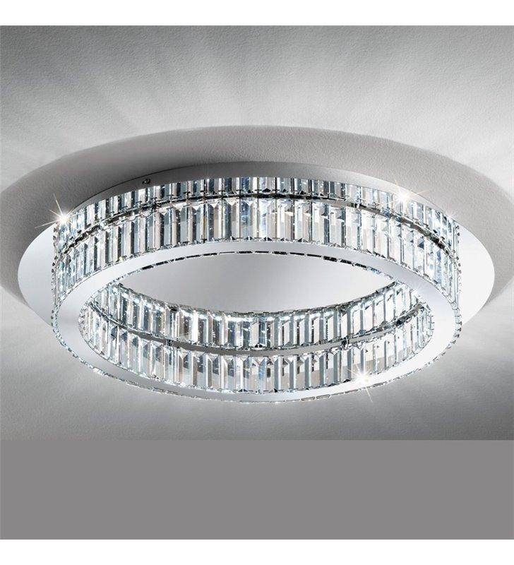 Plafon Corliano 700 duży kryształowy okrągły