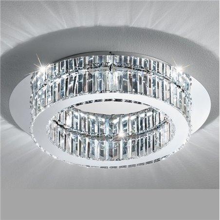 Plafon Corliano 500 kryształowy okrągły