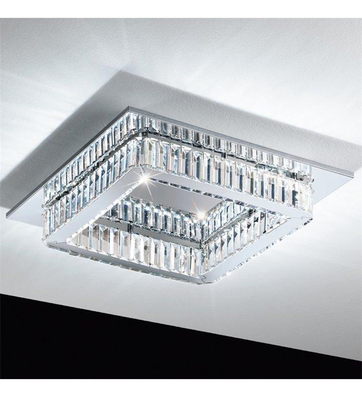 Plafon Corliano 500 kryształowy kwadratowy