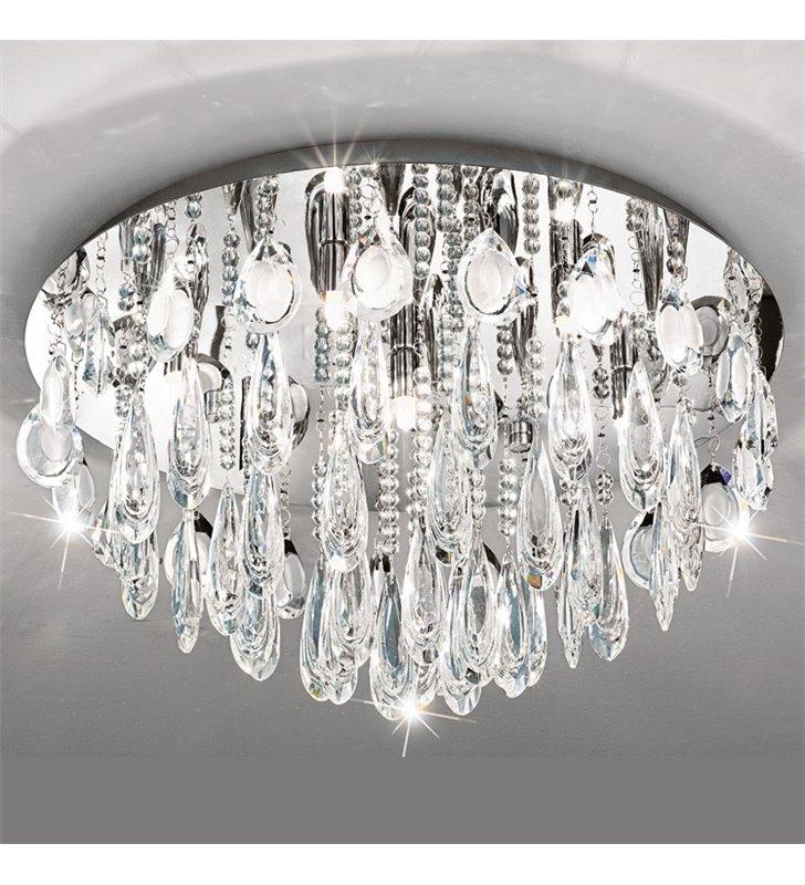 Plafon kryształowa okrągła lampa sufitowa Calaonda 580- DOSTĘPNA OD RĘKI