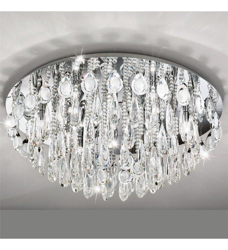 Plafon kryształowa duża okrągła lampa sufitowa Calaonda 760
