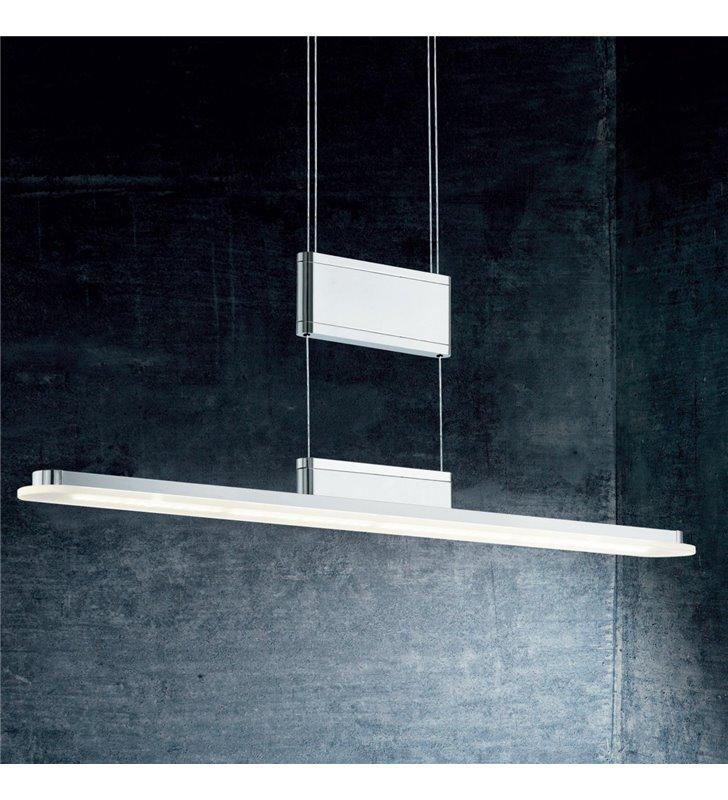 Lampa wisząca Armedo1 podłużna z płynną regulacją wysokości nad stół do jadalni biura ze ściemniaczem dotykowym